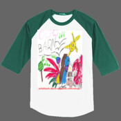 Musical Barn - 100% Cotton T-Shirt - Mens Colorblock Raglan Jersey